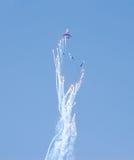 Leistung von aerobatic Team Russe-Rittern Stockbilder