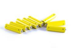 Leistungbatterien auf Weiß Stockbild