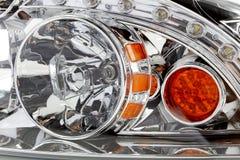 Leistungs-Auto-Scheinwerfer schließen heraus Lizenzfreies Stockfoto