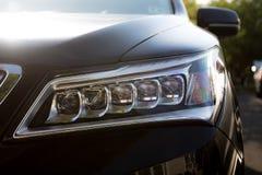 Leistungs-Auto-Scheinwerfer schließen heraus Stockbild