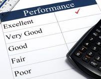 Leistungs-Checkliste Stockbilder