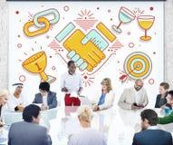 Leistungs-Erfolgs-Teamwork-Partnerschafts-Konzept lizenzfreie stockfotos