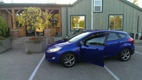 Leistungsblau Ford 2014 fokussiert Lizenzfreie Stockfotos