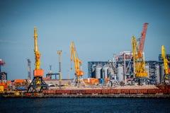 Leistungsfähige HafenPortalkräne Lizenzfreie Stockfotografie