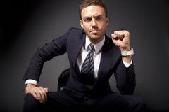 Leistungsfähiger Geschäftsmann Stockbild