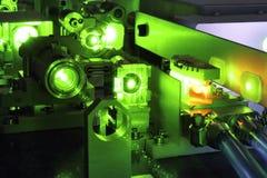 Leistungsfähiger Laser Stockfoto
