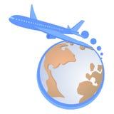 Leistungsfähiges Flugzeug stock abbildung