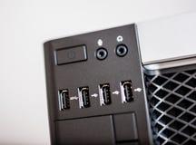 Leistungsfähiger Computer mit USB 3 Häfen Lizenzfreie Stockbilder