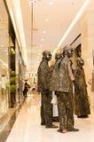 Leistungskunst, Bronzemen Lizenzfreies Stockfoto