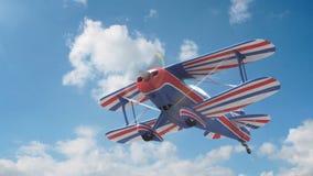 Leistungsstarkes Flugzeug stock video