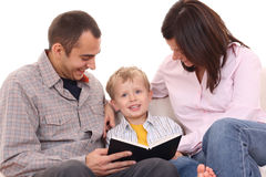 Leisure activity - family read Royalty Free Stock Images