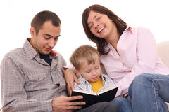 Leisure activity - family read Stock Image
