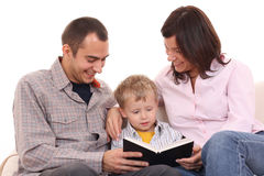 Leisure activity - family reading Stock Photography