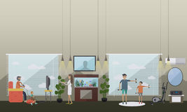 330cea643 Leisure activity with father vector illustration in flat style vector  illustration