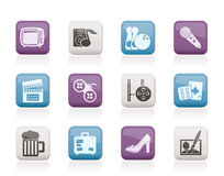 Leisure activity and objects icons. Vector icon set Stock Photo