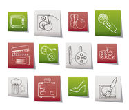 Leisure activity and objects icons Royalty Free Stock Image