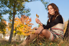 Leisure in autumn park Royalty Free Stock Photo
