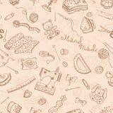 Leisure background. Hobby background. Handmade items seamless pattern Royalty Free Stock Photos