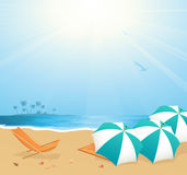Leisure on the beach. Illustration, AI file included royalty free illustration