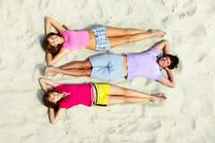 Leisure on beach Stock Images
