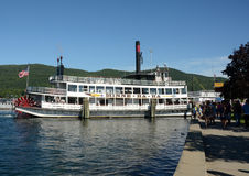 Leisure boat cruise on Lake George, NY State Stock Photography