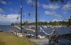 Leisure Boat Harbour in Sjötorp, Sweden Royalty Free Stock Photos