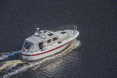 Leisure boat at Ringdalsfjord Royalty Free Stock Images