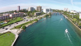 Leisure boating in Boca Raton Florida stock video footage