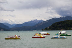 Leisure boats on the lake Royalty Free Stock Photography