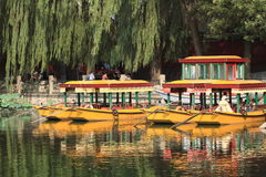Leisure boats at a lake in Beijing Stock Photography