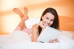 Leisure browsing. Stock Images