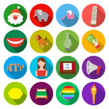 Leisure, business entertainment, and other web icon in flat style.torch, fire, tourism icons in set collection. Leisure, business entertainment, and other  icon Royalty Free Stock Photo