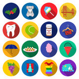 Leisure, business, hygiene and other web icon in flat style. blouse, clothes, ship icons in set collection. Leisure, business, hygiene and other  icon in flat Stock Photos