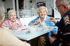 Leisure in cafe Royalty Free Stock Image
