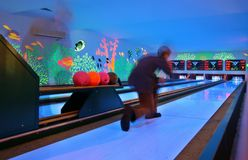 Leisure center -  bowling Stock Photo