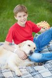 Leisure with dog Royalty Free Stock Image