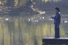 Leisure fisherman Royalty Free Stock Images