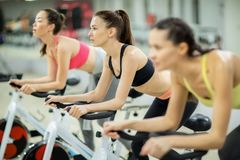 Leisure in fitness club Stock Image