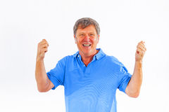 Leisure friendly man greets Royalty Free Stock Photography