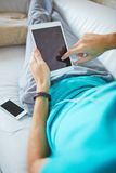 Leisure with gadgets Stock Photo