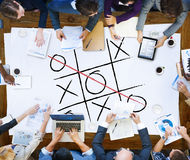Leisure Game Tic Tac Toe Competition Challenge Winner Concept.  Stock Photos