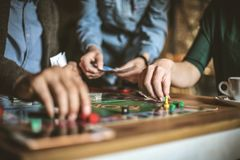 Leisure games. Close up. Lifestyle stock images