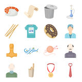 Leisure, hobby, sport and other web icon in cartoon style.gold, reward, tie icons in set collection. Leisure, hobby, sport and other  icon in cartoon style.gold Stock Photo