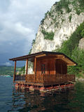 Leisure home floating on lake Royalty Free Stock Photography