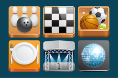 Leisure  icons Royalty Free Stock Photography