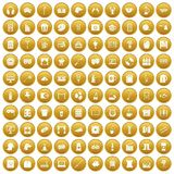 100 leisure icons set gold. 100 leisure icons set in gold circle isolated on white vectr illustration vector illustration
