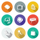 Leisure Icons Set. Vector Illustration. Royalty Free Stock Photo