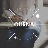 Leisure Journal Journalism Ideas Express Yourself Concept Stock Photos