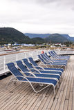 Leisure - Lounge Chairs on Deck of Cruise Ship Royalty Free Stock Photography