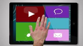 Leisure montage on digital tablet stock footage